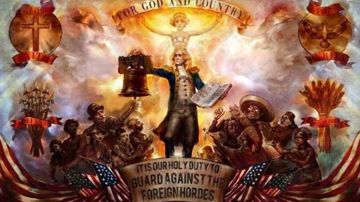 For God and Country. It is our holy duty to guard against the foreign hordes.