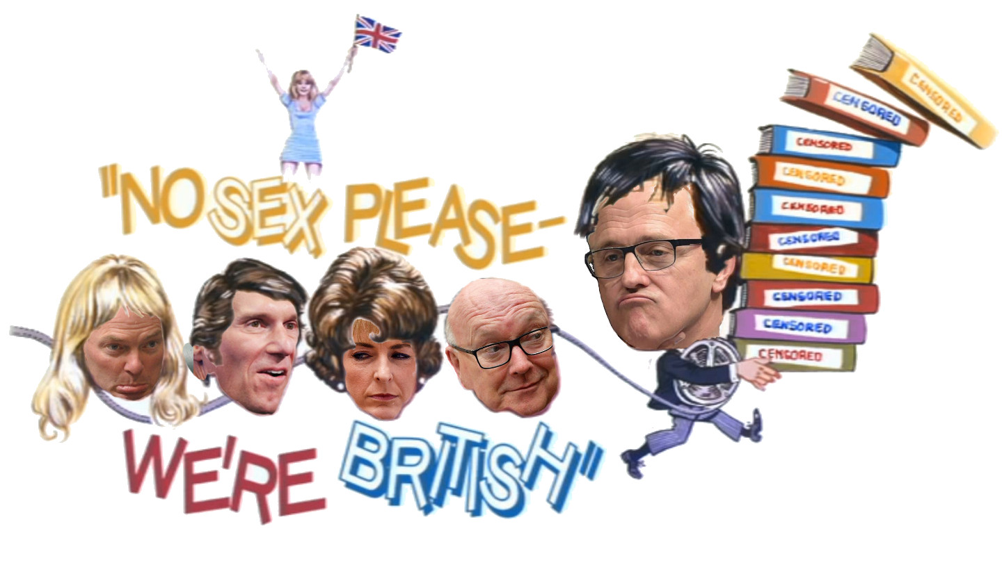 Poster for No Sex Please We're British with Australian politicians